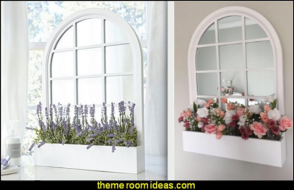 Wall Mirror - Decorative Window Pane Style