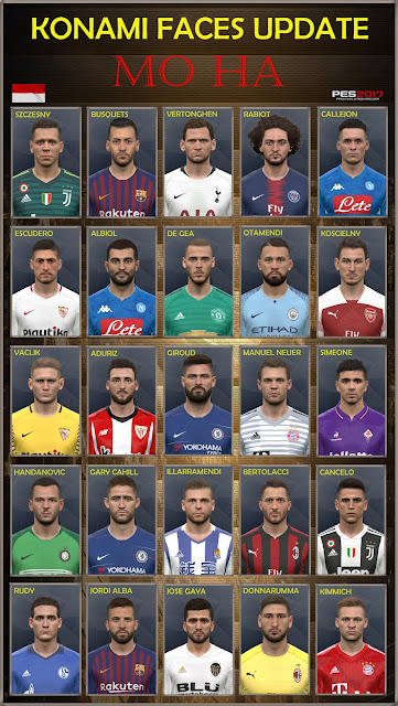 PES 2017 Konami Faces Update by Facemaker Mo Ha