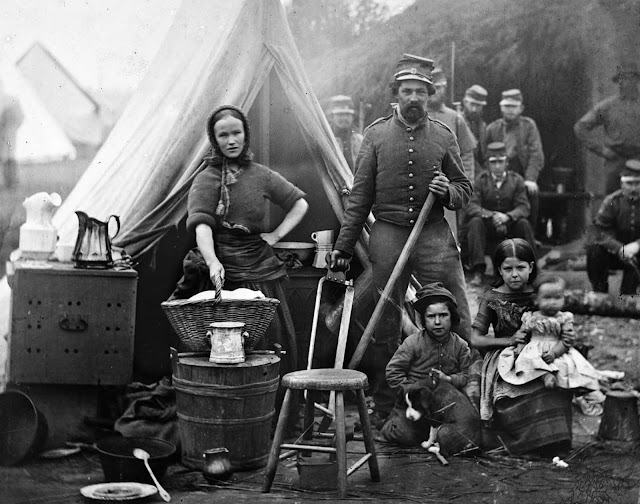 The routines of camp life of the 31st Penn. Infantry (later, 82d Penn. Infantry) at Queen's farm, vicinity of Fort Slocum, Washington, District of Columbia, during the Civil War in 1861.