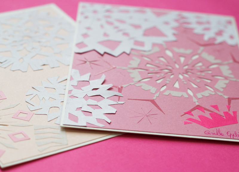 snow flaks cutpaper