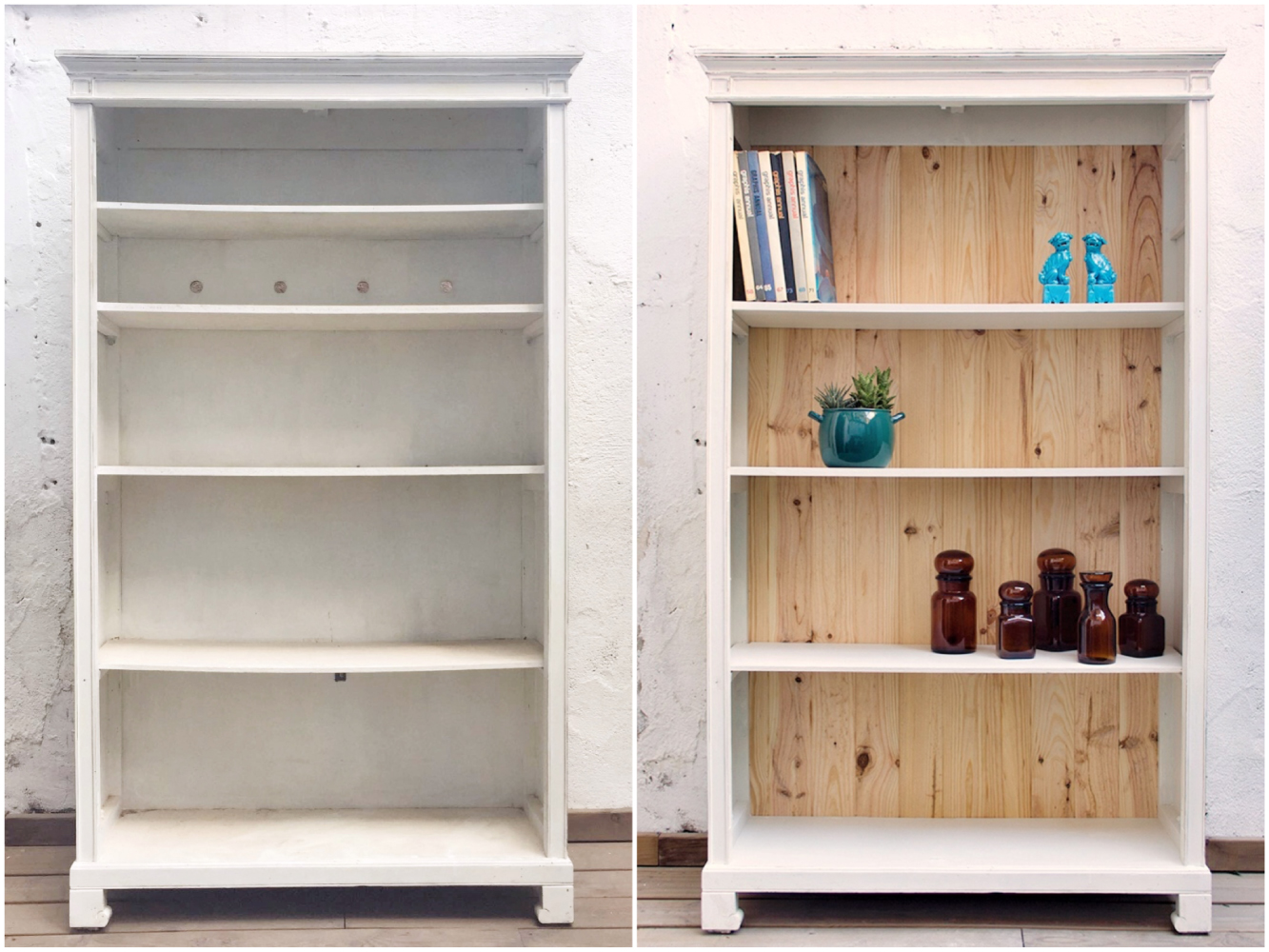 Antes y después- Estantería - Studio Alis