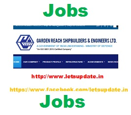 Trade Apprentice, Graduate Apprentice & Technician Apprentice vacancies in Garden Reach Ship Builders & Engineers (GRSE) Ltd.