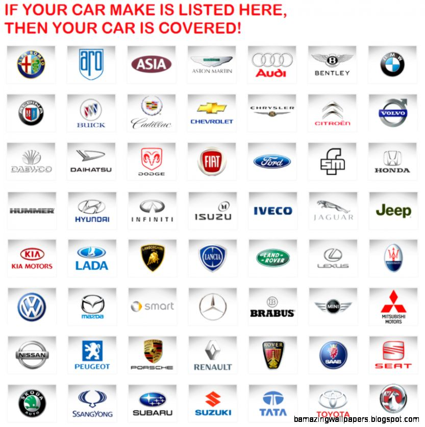 All Cars Logo With Name: Foreign Car Logos And Names List