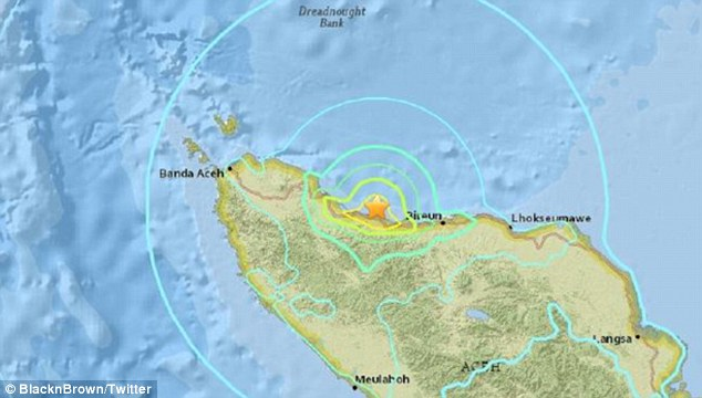 Acheh di landa gempa bumi