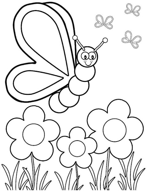 Spring Coloring Pages Free Printable Spring Coloring Pages Free Down   Coloring Online