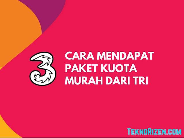 Tri memang dikenal sebagai salah satu provider internet yang menyediakan kuota dengan har Tutorial Dapat Kuota Murah 3 Tri Terbaru 2019
