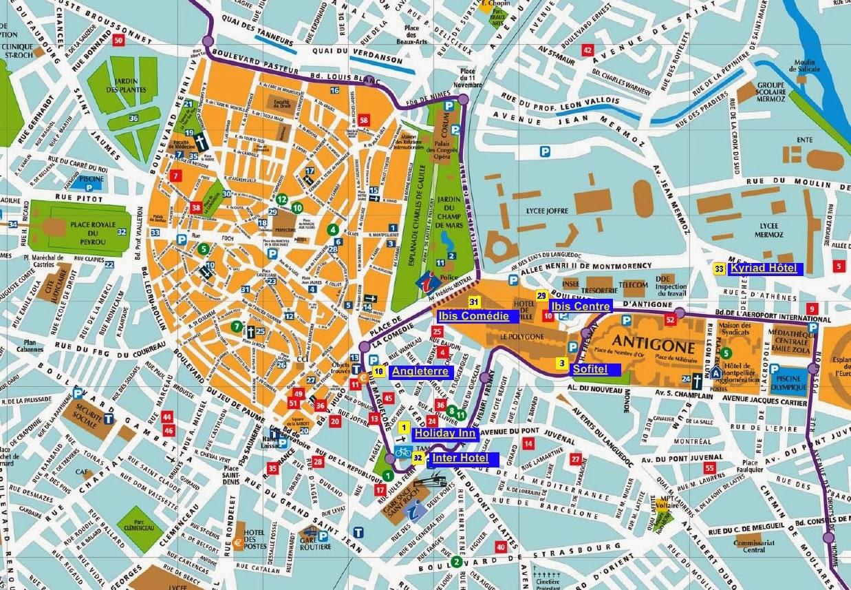 Plano de Montpellier.