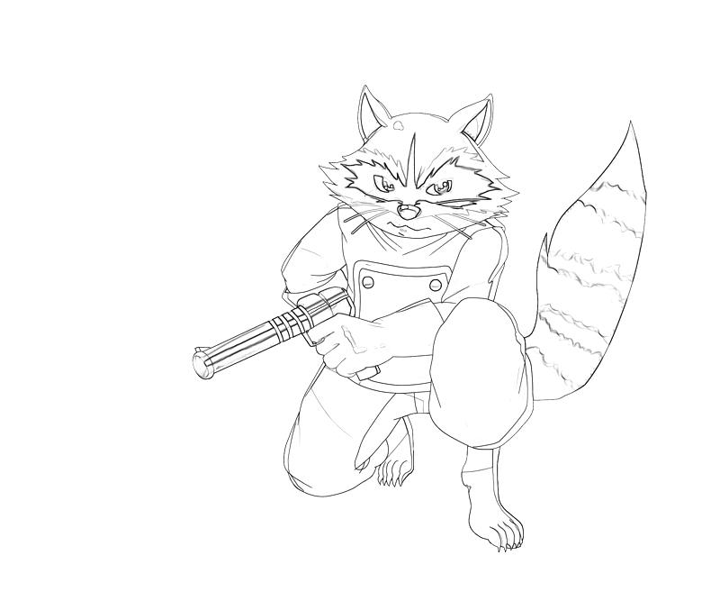 rocket raccoon coloring pages | Rocket Raccoon Skill | Lowland Seed