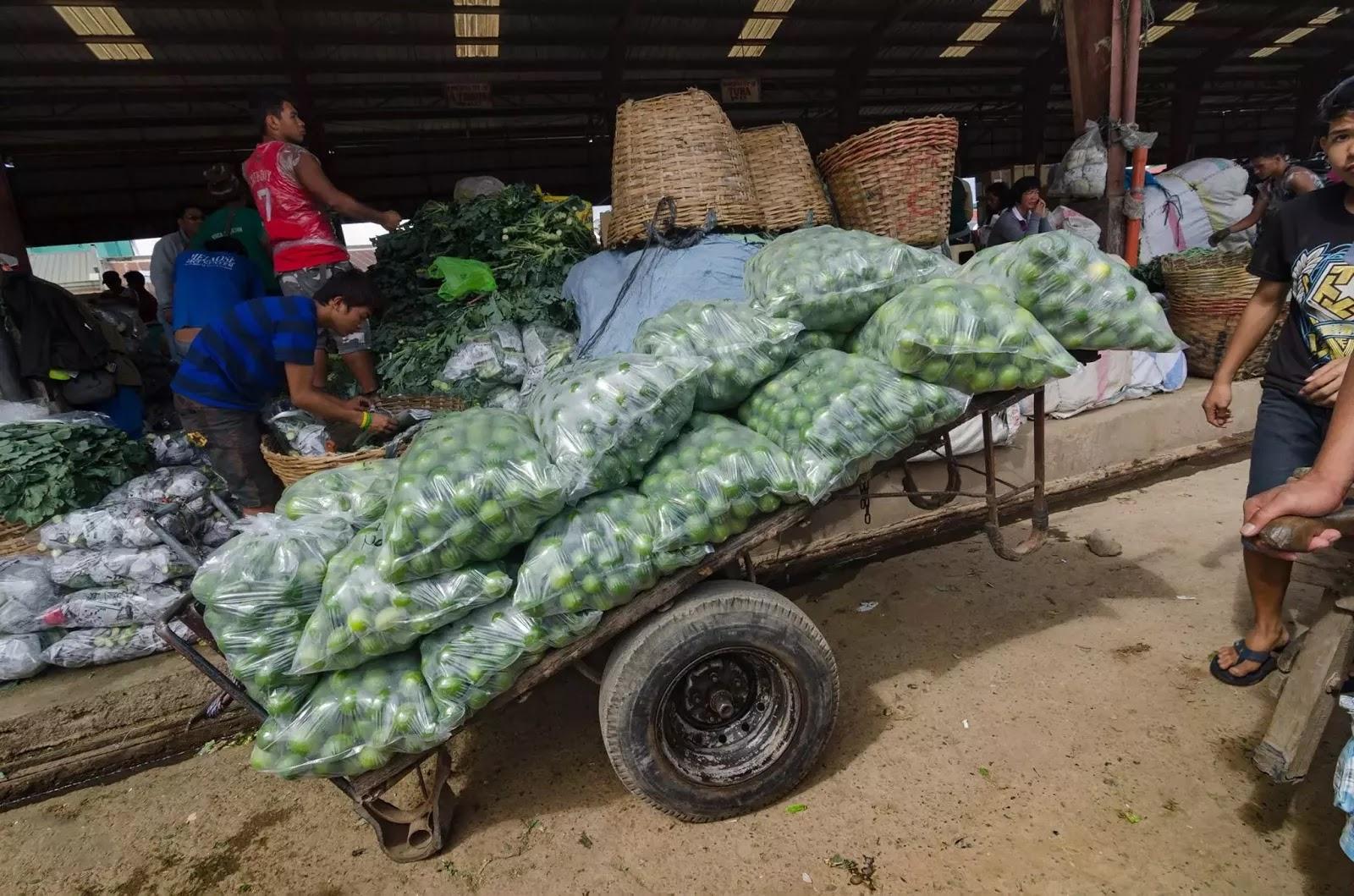 A Modern Porter's Cart Lemon Produce Trading Post La Trinidad Benguet Cordillera Administrative Region Philippines