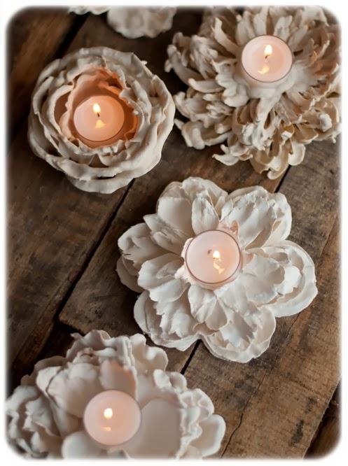 Tutorial portacandele di fiori di gesso le creazioni for Ikea portacandele