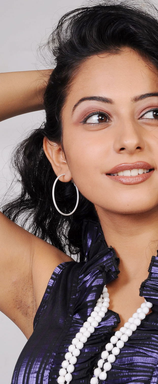 Rakul Preet Singh Hot Black Hairy Armpits Show Face Close Up Photos