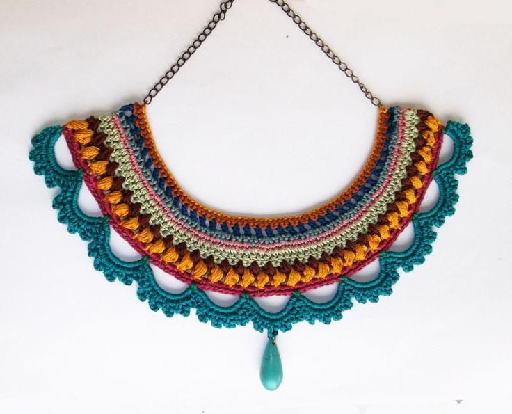 nuevo concepto 120b3 90090 Patrones de Bisuteria a crochet, aretes, collares, pulseras