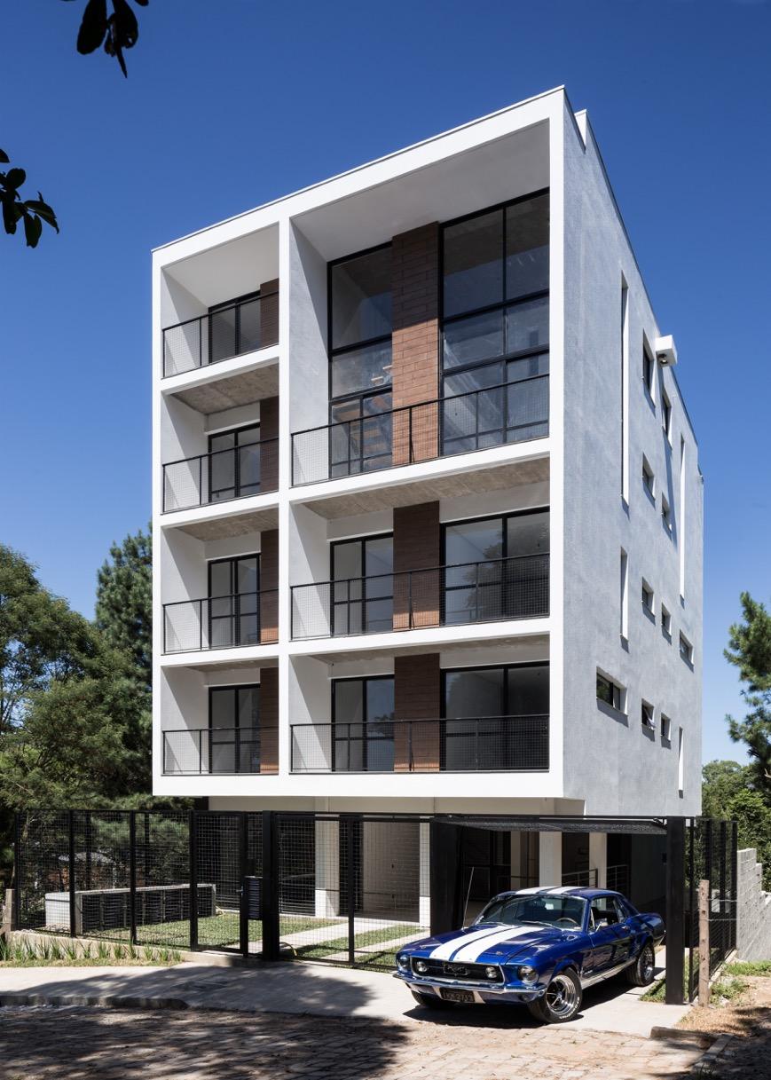 La forma moderna en latinoam rica edificio residencial for Fachadas para departamentos pequenos