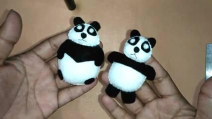 Cara Membuat Boneka Panda dari Kain Flanel