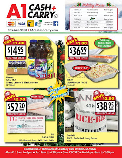A-1 Cash and Carry Flyer December 1, 2016 – January 10, 2017