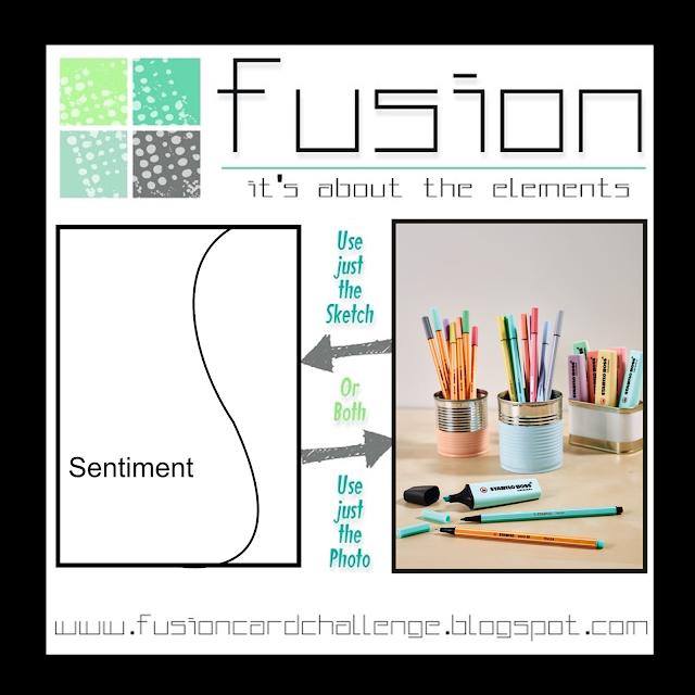 New Fusion Card Challenge - Pastel Pencils