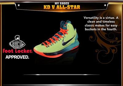 NBA 2K13 Nike KD V All-Star Colorways Shoes