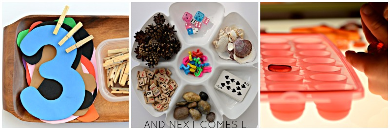 Math activities for kids that focus on counting & one-to-one correspondence from And Next Comes L