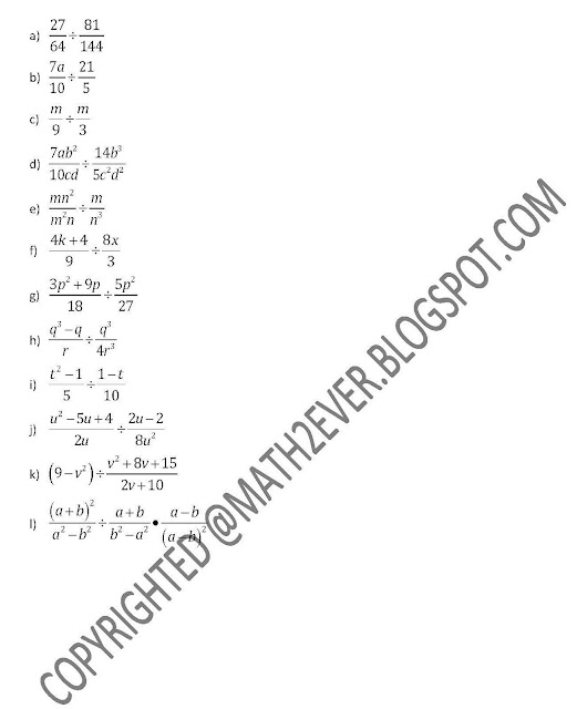 ENGINEERING MATHEMATICS 1 BA101 BASIC ALGEBRA (EXERCISE 1