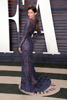 victoria secret angel sara sampaio sexy best red carpet dresses 2016 vanity fair oscar party