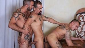 Xavi Duran, Amir Dib, Santi Noguera – Horndogs, sc. 6 (Bareback)