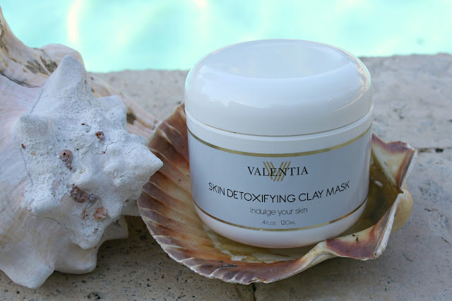 valentia skin detoxifying clay mask packaging