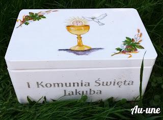 Pudełko Komunijne i kartka