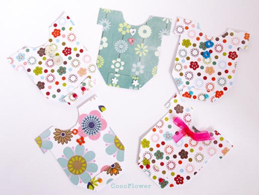 cocoflower diy crafts crochet handmade diy faire part de naissance petit body de papier. Black Bedroom Furniture Sets. Home Design Ideas