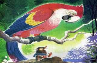 fabula el guacamayo y el topo