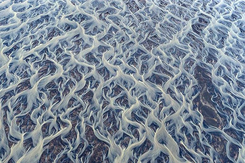 La impresionante belleza de los ríos trenzados