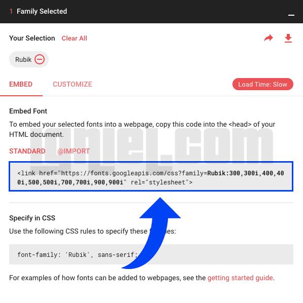 Cara Import Google Font Ke Blogspot