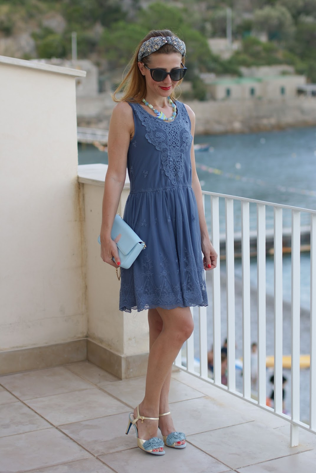 Mismash lace and tulle dress and Aquazzura Wild Thing sandals lookalike on Fashion and Cookies fashion blog, fashion blogger style