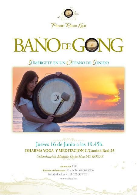 ARTÍCULOS PARA MOSTRAR, baño de gong las rozas madrid boadilla del monte sierra noroeste, terapia de sonido Madrid, akaal  kundalini yoga gong paramratan, baños de Gong param ratan,