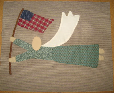 Angel with flag for Cheri Payne's Sweet Land of Liberty quilt
