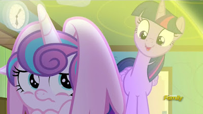 Flurry Heart hides from Twilight