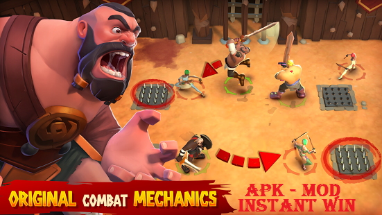 Download Gladiator Heroes MOD APK Instant Win Game