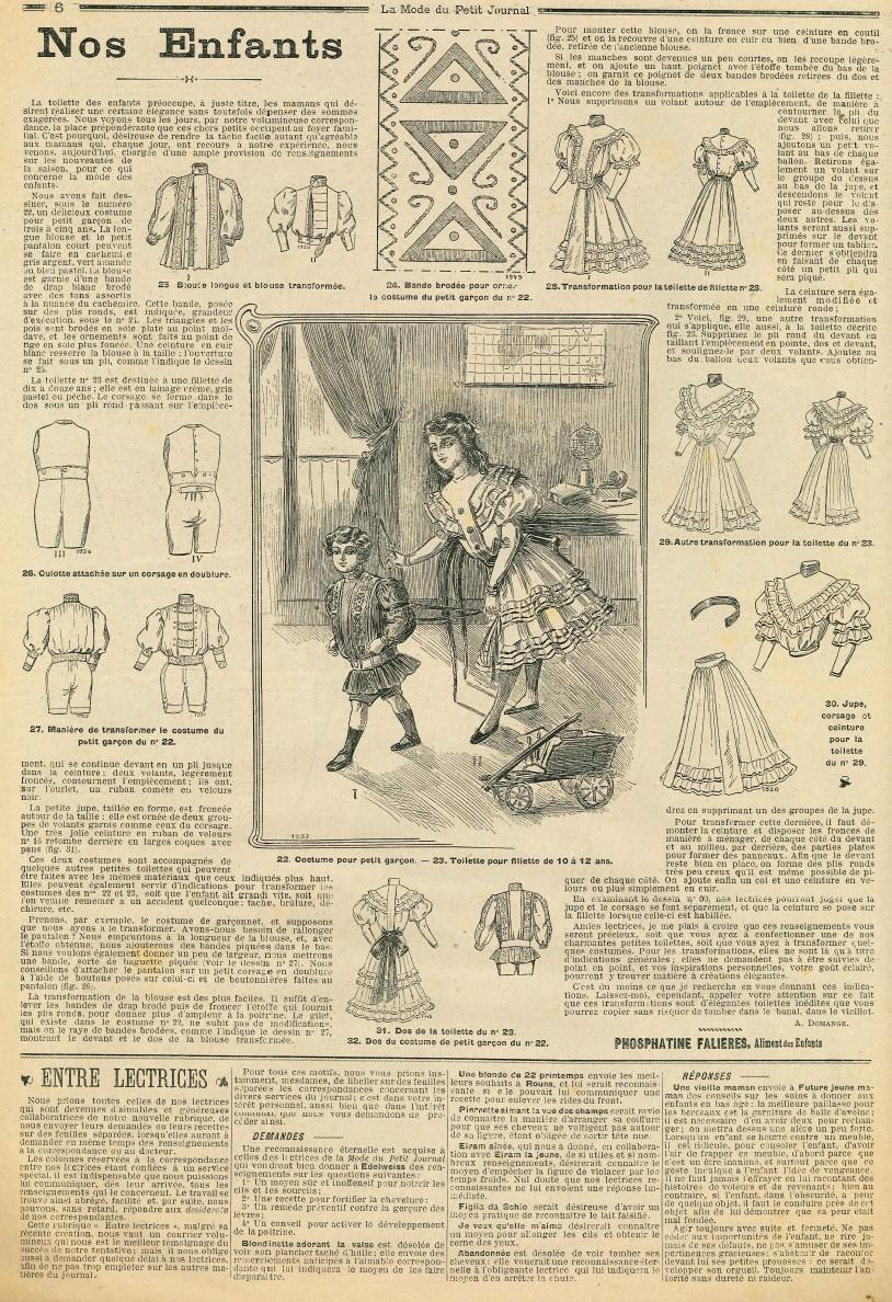 Le blog de callisto la mode du petit journal 19 et 26 f vrier 1905 - Le journal de la mode ...