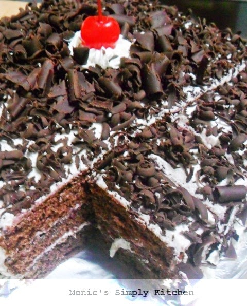membuat black forest cake