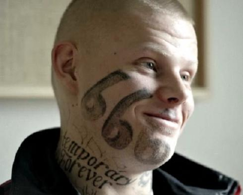 Gangsters Out Blog Another Clown With A 666 Tattoo On His Face