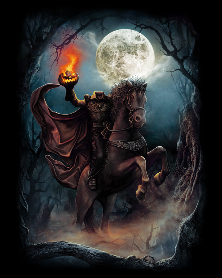 The horrors of halloween halloween t shirts by cavity colors and fright rags - Pictures of the headless horseman ...