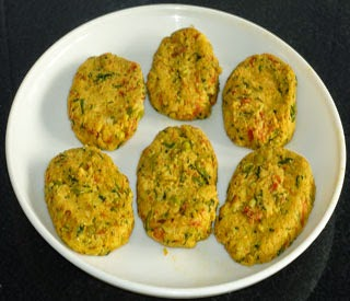 flatten the mixture balls to make vegetable cutlet