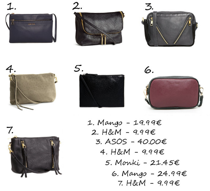 small cross body bags H&M mango asos