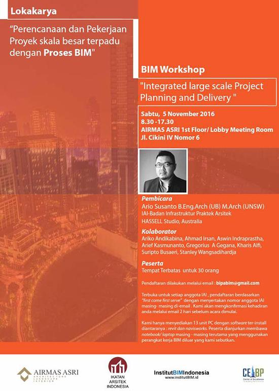 Perencanaan dan pekerjaan proyek skala besar terpadu dengan proses BIM