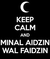 tulisan arab minal aidin wal faidzin
