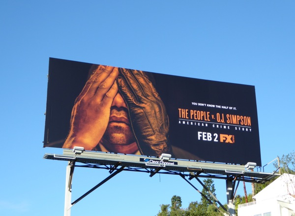 People v OJ Simpson American Crime Story billboard