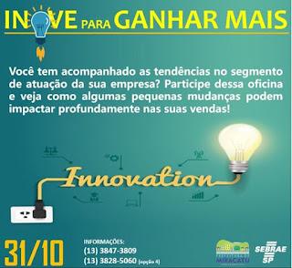 Sebrae de Miracatu realiza oficina para empreendedores