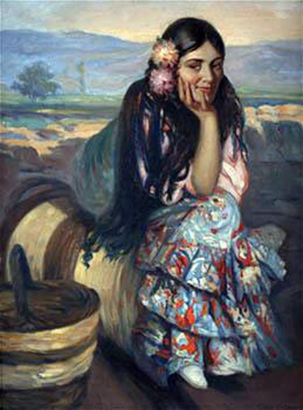 Victor Moya Calvo, Pintor español, Pintores Valencianos, Retrato de azules, Retrato de andaluza, Retratos de Victor Moya Calvo