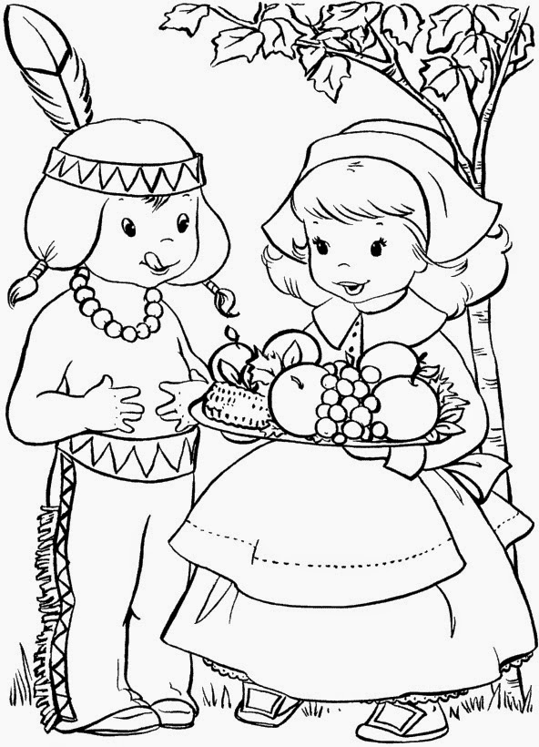 thanksgiving food coloring pages - photo#4