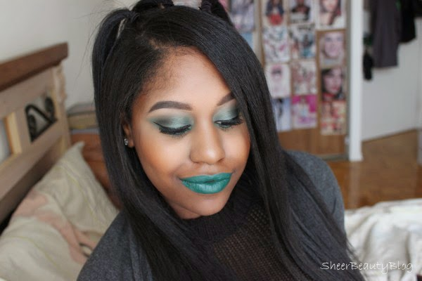 Aaliyah are you that somebody makeup look, melt lipstick blow and green makeup