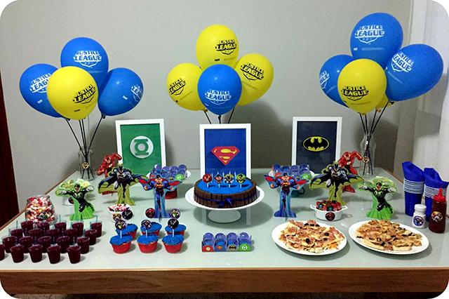 Decoração Festa da Liga da Justiça - Super Heróis